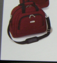 "KENNETH COLE ""DOUBLE TIME"" SOFT TRANSPORT TOTE RED SOLID LIFETIME WARRANTY NEW - $94.80"