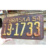 Matched Pair 1954 Nebraska License Plates bz - $39.98