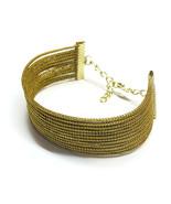 Egyptian Cuff Bracelet, Wide cuff, modern cuff,  artisan jewelry, Ethnic... - $25.60