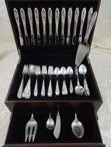 Sculptured Rose by Towle Sterling Silver Flatware Set For 12 Service 65 Pieces - $3,145.50