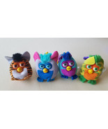 FURBY plush KEYCHAINS Backpack Clip Ons lot of 4 2000 fast food stuffed ... - $9.99