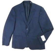 NEW $350 MICHAEL KORS NAVY BLUE CHECKERED 100% WOOL SPORT COAT BLAZER SI... - $79.19