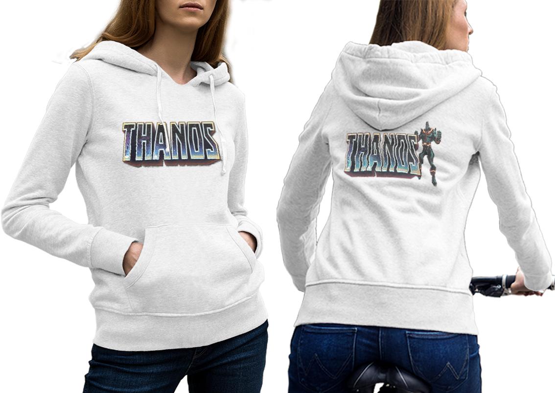 Thanos the mad titan hoodie classic women white