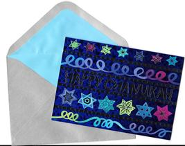 Papyrus Happy Chanukah holiday Cards silver envelopes 14 boxed set stars - $19.77