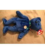 TY Dark Blue Clubby Bear MWMT - $10.11