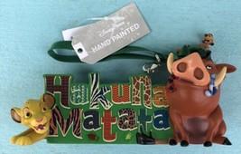 Disney The Lion King Simba Hakuna Matata Ornament New With Tags - $22.95