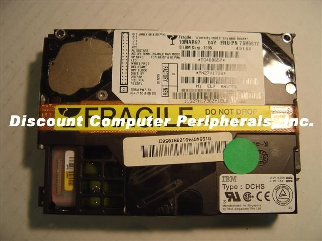 "IBM DCHS-04Y DCHS04Y 4.3GB 3.5"" 80PIN SCSI Drive 47 Instock Tested Free USA Ship"
