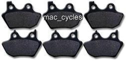 Disc Brake Pads for the Harley FXDL FXDLi  2000-2003 Front & Rear (3 sets)