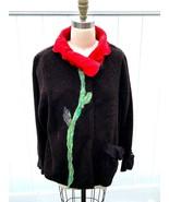 "Lee Andersen Womens L Jacket Soft Fleece ""Tudor Tulip""  Flower Petal Col... - $129.00"
