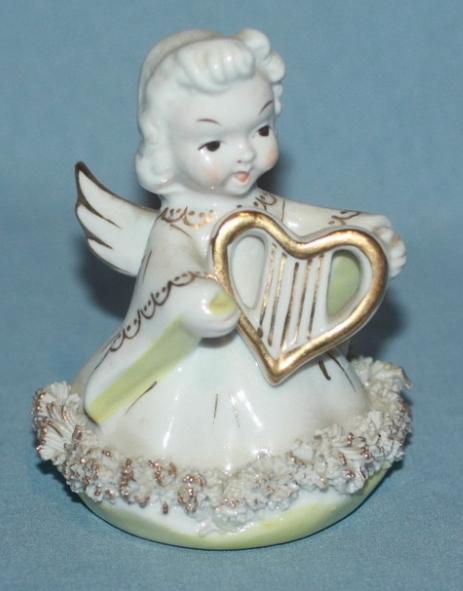 Vintage Blume Harp Angel Figurine Bonanza