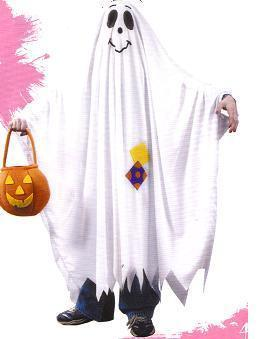 FRIENDLY GHOST COSTUME CHILD'S SZ md 8/10