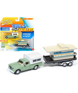 1960 Studebaker Pickup Truck with Camper Shell Oasis Green with Houseboa... - $29.68