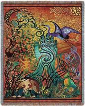 70x54 CELTIC Awen Irish Ireland Tapestry Afghan Throw Blanket - $60.00