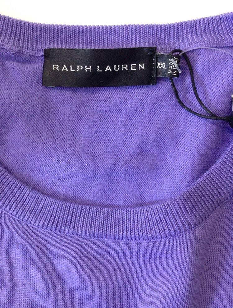 Ralph Lauren Mens Cotton Jumper Colour Purple. Black Label Size XXL RRP £225