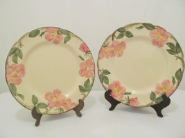 "Franciscan Desert Rose - 2 Earthenware Dinner Plates - 10 5/8"" - TV Stamp - $20.00"