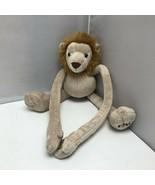 "FAO Schwarz Cream Tug a Lug Hanging Lion Plush Stuffed Animal 20"" - $39.99"