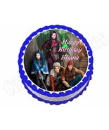 Disney Descendants *ROUND* edible party cake topper decoration sheet - $7.80