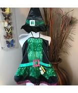 Black Purple Green Sequin Witch Halloween Dog Costume Pet Petco Small Pu... - $10.88