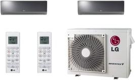 Lg - LMV18CHV Cooling/Heat Pump 17,000 Btu Outdoor, 2X LAN120HSV5 Lg Art Cool Mi - $5,646.84