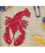 Backyard Clambake Lobster Vinyl Tablecloth flan... - $9.99