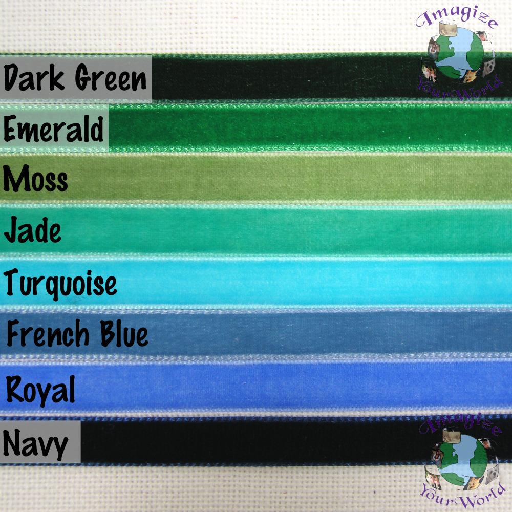 Moss VELVET Choker 3/8 inch 10 mm wide Custom Size Handmade USA sage green olive