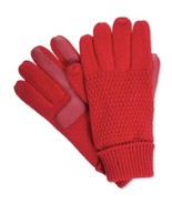 ISOTONER smartDRI Women's Textured Texting Knit Ski Gloves, Red $40 - $19.79