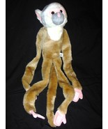 Hanging Squirrel Monkey Plush Stuffed Animal Wi... - $19.98