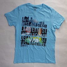 Aeropostale Light Blue Graphic Aero NYC T-Shirt Size Large Urban Men's R... - $8.33