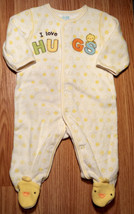 Girl's  or Boy's Size 0-3 M Months White/ Yellow I Love Hugs Duck Footed... - $15.00