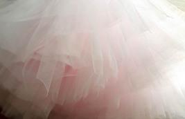 Women Girl Pink Tutu Skirt Princess Pink Midi Tulle Skirt 6 Layer Puffy Tutus image 4
