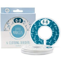 Baby Closet Dividers Set of 6, Nautical Baby Nursery Decor, Perfect Clos... - $13.15