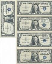 1957 $1 ONE DOLLAR STAR SILVER CERTIFICATES (LOT OF 5) CRISP UNC! NICE! ... - $84.95