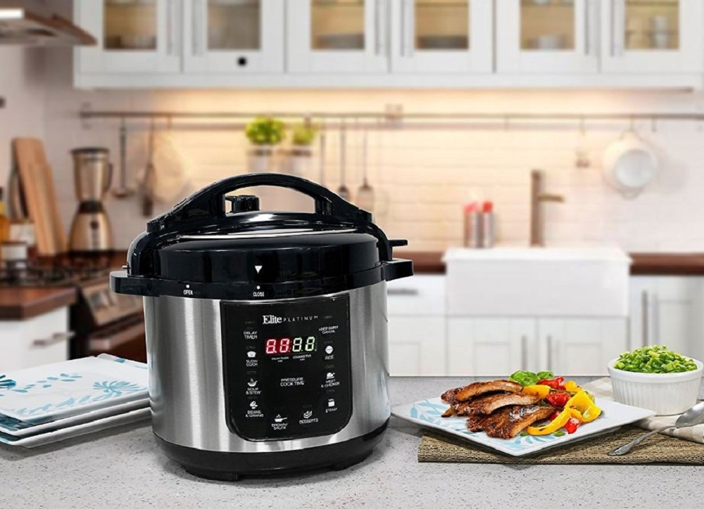 Electric Pressure Cooker Digital Programmable 4 Qt Steamer Kitchen Cooking Cook
