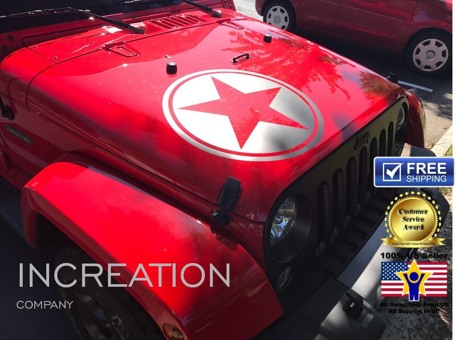 Truck Car Jeep Wrangler 4x4 vinyl decal, racing sticker art hood star Graphics
