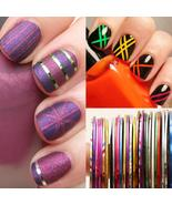 Pcs 0.5Mm Nail Striping Tape Set Line Diy Nail Art Adhesive Decal Manicu... - $3.14