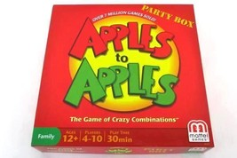 Mattel Apples to Apples Party Box Crazy Combinations Family 4-10 Players... - $11.29