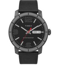 Timex TW2T72600 Men's Black Leather Strap Black Dial Analog Watch - $94.05