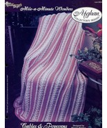 Cables & Popcorns Afghan TNS Mile A Minute Crochet PATTERN/INSTRUCTIONS/RARE - $3.57