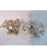 Pair Pink White Cherry Blossom Prosperity Tree Bells - $12.86