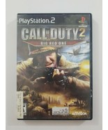 Call of Duty 2 PS2 Game Big Red One 2005 Activision Playstation 2 - $4.99