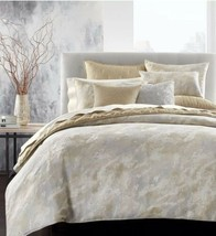 Hotel Collection Metallic Stone FULL / QUEEN Duvet Cover Gold Open Box - $64.35