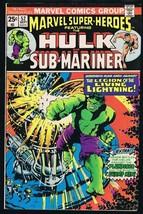 Marvel Super Heroes #52 ORIGINAL Vintage 1975 Comic Book Hulk Plunderer - $9.49