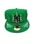 New Era 59Fifty New York Yankees Fitted Hat Size 7-3/8 Green White Baseb... - $23.36