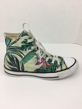 Converse All Star Chuck Taylor Womens Shoes 7 High Top Green Multi Flora... - $34.79