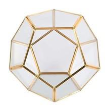 Houseables Geometric Glass Terrarium, Gold Plant Holder, 15 cm, 1 Plante... - $47.99