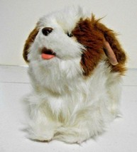 Fur Real Friends Working 9'' Moving Barking White Brown Dog Puppy Plush - $18.46