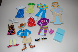Melissa & Doug Wood Wooden Puzzle Magnetic Doll Dress Up Molly Maggie Le... - $14.95