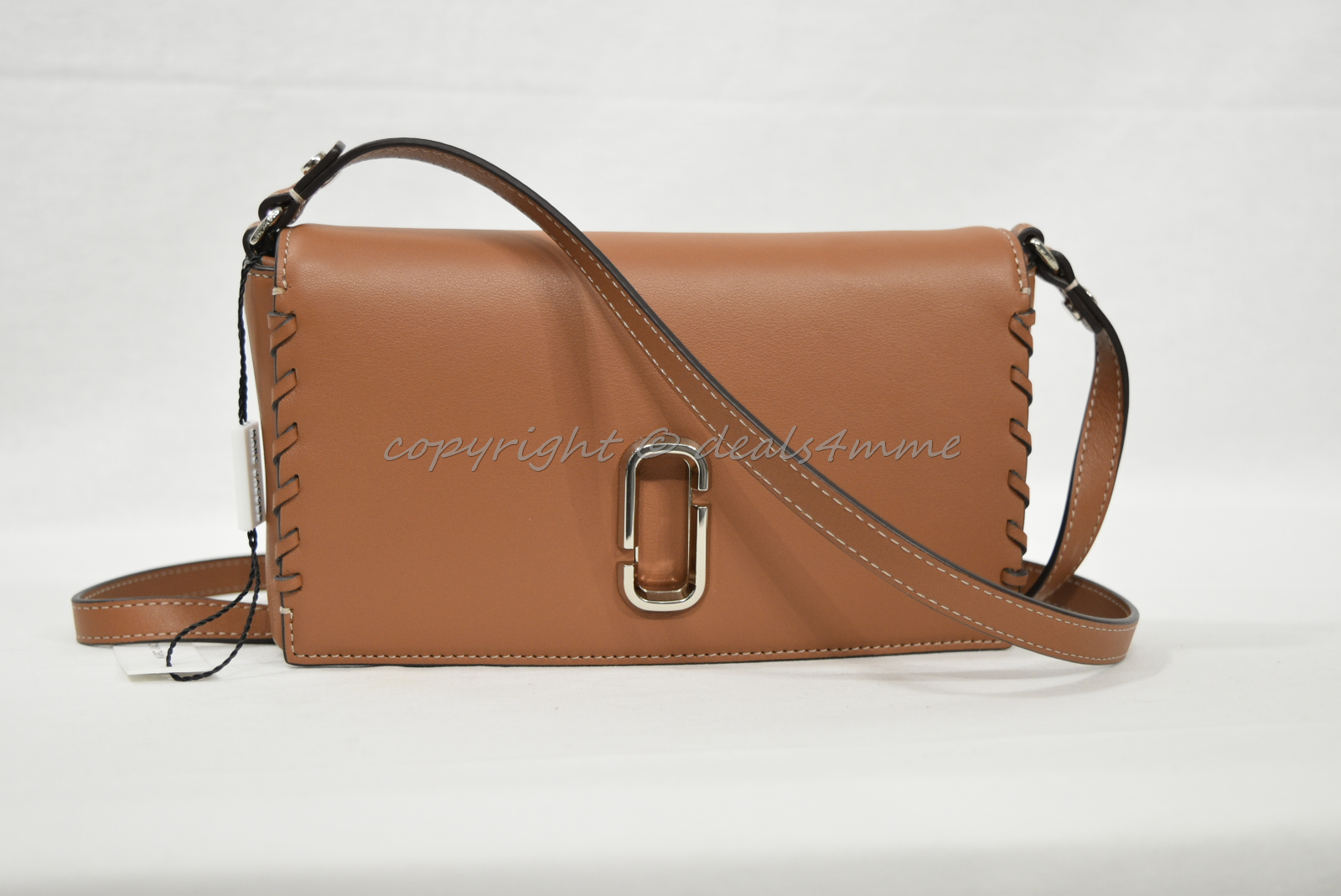 Primary image for NWT MARC By Marc Jacobs M0010237 Noho Leather Small Shoulder Bag in Caramel Cafe