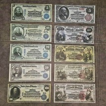 High quality COPIES with W/M United States.National Bank 1882-1909 FREE ... - $39.00