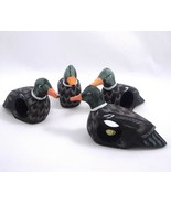 Mallard Duck Decoy Figurine Wood Napkin Rings Philippines set of 4 Hand ... - $11.87